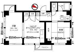 東麻布ハウス[2階]の間取り