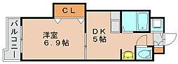 サンプラスパ[4階]の間取り