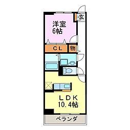 愛知県常滑市千代ケ丘3丁目の賃貸マンションの間取り