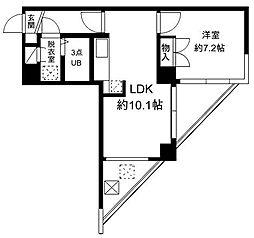 FUKASAWA614マンション[6階]の間取り