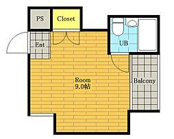 五月フレックスマンション[2階]の間取り
