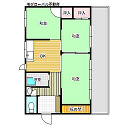 [一戸建] 福岡県福岡市東区下原3丁目 の賃貸【/】の間取り
