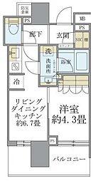 東京メトロ銀座線 末広町駅 徒歩3分の賃貸マンション 3階1DKの間取り