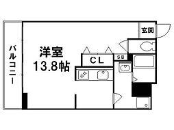 クラスカ衣笠[2階]の間取り