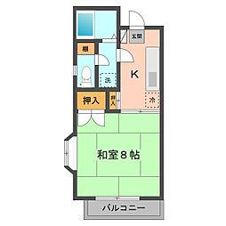 東京都江戸川区西小岩2丁目の賃貸アパートの間取り