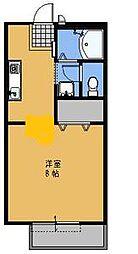 メゾンセジュールA[105号室]の間取り