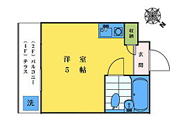 パークアベニュー東中野[206号室]の間取り