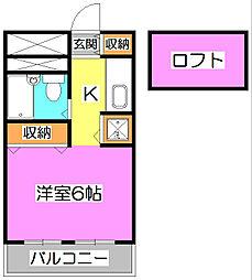〜クラウンロイヤル〜[3階]の間取り