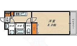 アドバンス大阪城エストレージャ 9階1Kの間取り