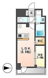仮)ハーモニーレジデンス名古屋新栄[6階]の間取り
