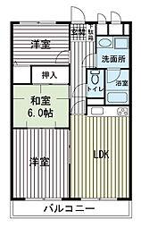 大岡小川グリーンタウン[2階]の間取り