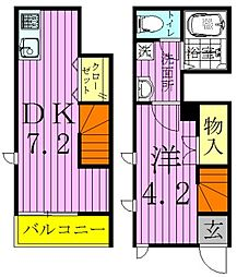 メゾネット・シャルマン[2階]の間取り
