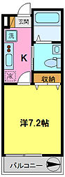 アクエ3[3階]の間取り