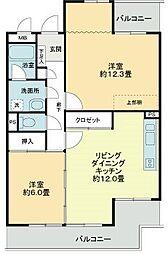 愛知県名古屋市東区徳川町の賃貸マンションの間取り