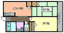 トリニティー加美東[5階]の間取り