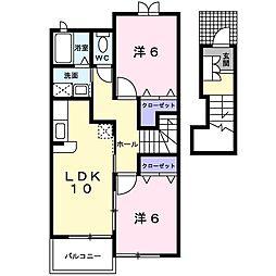 鹿児島県指宿市西方の賃貸アパートの間取り