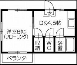 住田マンション[3号室]の間取り