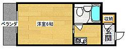 コスモメイト北野[3階]の間取り