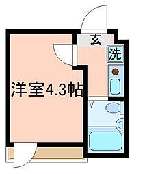 イルビラージュ蒲田[2階]の間取り