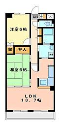 神奈川県川崎市宮前区東有馬1丁目の賃貸マンションの間取り