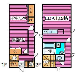 [一戸建] 北海道札幌市東区北四十一条東5丁目 の賃貸【北海道/札幌市東区】の間取り
