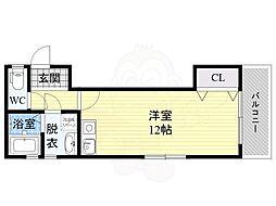 Long Tenure(ロング テニュア) 1階ワンルームの間取り