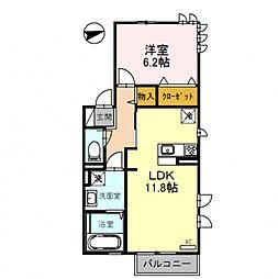 D-roomFUJI[201号室号室]の間取り