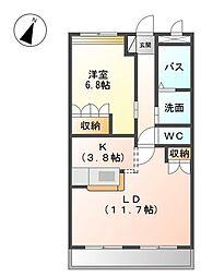 ウイング清水山[1階]の間取り