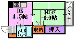 五竜ビル[2階]の間取り