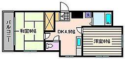 プランドール加甚II[3階]の間取り