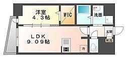 LAZO Kiyokawa[8階]の間取り