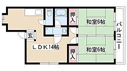 愛知県名古屋市守山区新守山の賃貸マンションの間取り