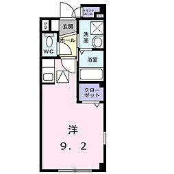 ノースコートA[1階]の間取り
