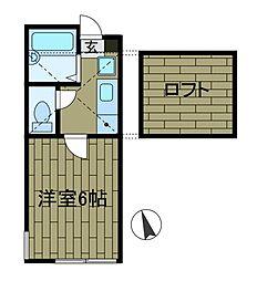 ウィステリアK[1階]の間取り