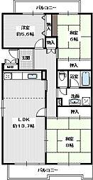 藤沢台第一住宅301号棟[305号室]の間取り