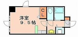 福岡県福岡市博多区那珂6丁目の賃貸マンションの間取り