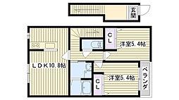 Gran・casa[2F号室]の間取り