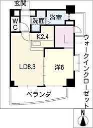 山八第七ビル[4階]の間取り