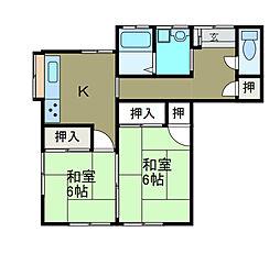 渋谷貸家[1階]の間取り