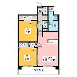 プレサンスロジェ上前津駅前II 1506号室[15階]の間取り