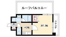 愛知県名古屋市名東区社口2丁目の賃貸マンションの間取り