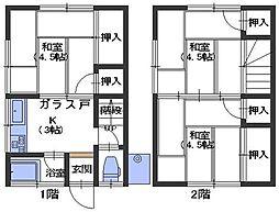 広島県呉市阿賀中央8丁目の賃貸アパートの間取り