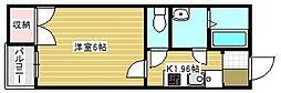 クレイノプランセル 華[2階]の間取り