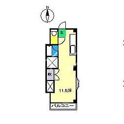 リバーセブン[4階]の間取り