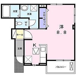 Osaka Metro南港ポートタウン線 平林駅 6.3kmの賃貸アパート 1階1Kの間取り