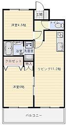 プレアール南亀井1[3階]の間取り