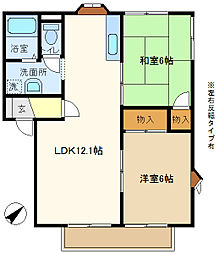 メゾンヨシコーB[2階]の間取り
