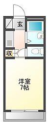 コーポラスミハラII[2階]の間取り
