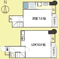 ラフィーヌ帝塚山[7階]の間取り