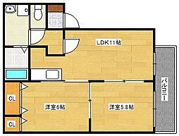 ギオンハイツ[2階]の間取り